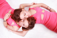 Two sleeping women Royalty Free Stock Photography