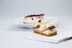 Two slice cheesecake Royalty Free Stock Photography