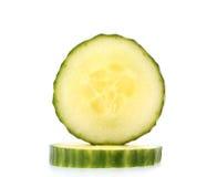 Two slice of fresh cucumber Stock Photo