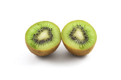 Two slice of kiwi on a white background. Two slice of kiwi on a white background Stock Photos