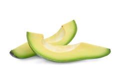 Two Slice Of Fresh Avocado Isolated On White Royalty Free Stock Photo