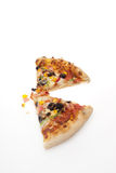 Two slice of pizza Stock Images