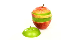 Two sliced apples Royalty Free Stock Image