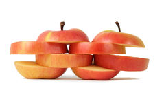 Two Sliced Apples Royalty Free Stock Photo