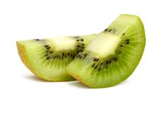 Two sliced kiwi Royalty Free Stock Photography