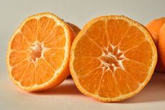 Two sliced oranges Royalty Free Stock Image