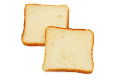 Two slices of bread. Stock Image