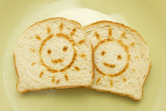 Two slices of bread Royalty Free Stock Images