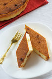 Two slices of cheesecake Stock Images