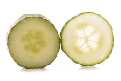Two slices of cucumber Royalty Free Stock Photos