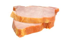Two slices of gammon steaks Stock Photo