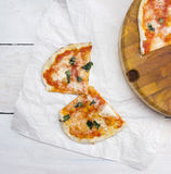 Two slices of homemade pizza Stock Photography