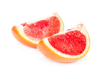 Two slices of juicy grapefruit Royalty Free Stock Photo