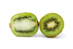 Two slices of kiwi. Isolated on the white background Stock Photo