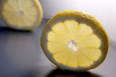 Two slices of lemon Stock Photography