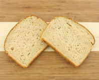 Two slices of multi grain bread Stock Photography