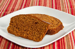 Two Slices Of Freshly Baked Pumpkin Bread Royalty Free Stock Image