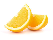 Two slices of orange Stock Photos