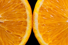 Two slices of orange Stock Photo