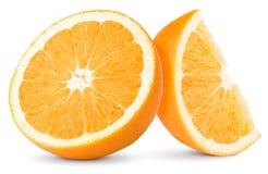 Two slices of orange Stock Photos
