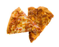 Two Slices of Pizza Royalty Free Stock Images