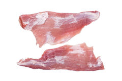 Two slices of pork fillet isolated Royalty Free Stock Image
