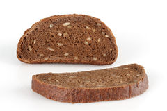 Two slices of rye bread Royalty Free Stock Image