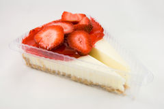 Two Slices of Strawberry Cheesecake Stock Photo