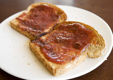 Two Slices of Toast Royalty Free Stock Photos