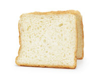 Two slices of toast bread Stock Image