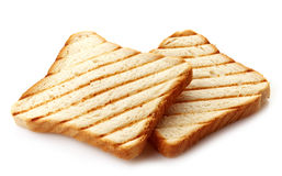Two slices of toasted bread Stock Image