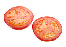 Two slices tomato Royalty Free Stock Image