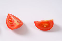 Two slices of tomato Stock Photography