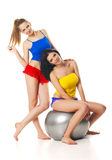 Two slim young girls  Stock Images