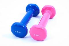Two small 0,5 kg dumbbells Stock Photography