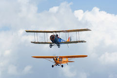 Two small airplane Royalty Free Stock Photos