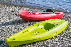 Two small boats for exploring the sea. Royalty Free Stock Photography
