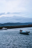 Two Small Boats in Harbor Royalty Free Stock Photo