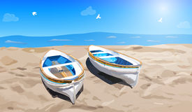 Two small boats Royalty Free Stock Photography