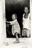 Two small brothers in Ghana together Stock Photos