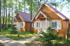 Two Small Cabins Royalty Free Stock Photos