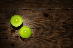 Two small candles Royalty Free Stock Photos