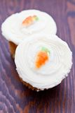 Two small carrot cakes Royalty Free Stock Photos