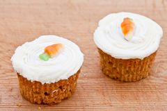 Two small carrot cakes Stock Image