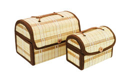 Two small chests of handwork Royalty Free Stock Image
