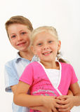 Two small children Stock Photo
