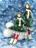 Two small Christmas trees 2 Royalty Free Stock Photo