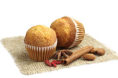 Two small cupcakes Royalty Free Stock Photo