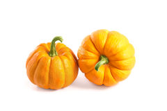Two small decorative pumpkins Stock Images