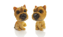 Two small dog doll Stock Images